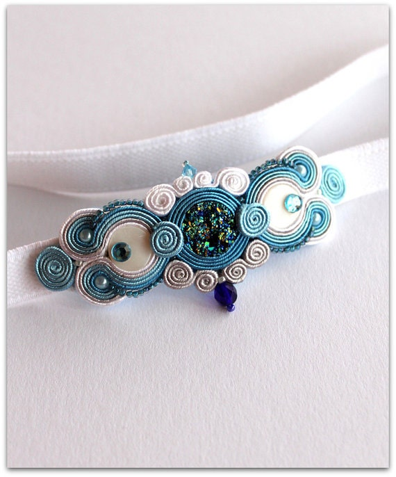 Soutache Headband. Head band On Elastic. HANDICRAFT, One pair to choose