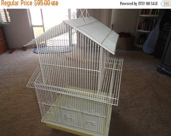 VALENTINES 50% OFF Very large vintage Birdcage very nice cage 30 inch by 20 inch by 19 inch