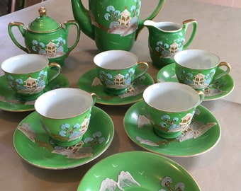 Dragon ware type China children's tea set