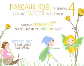 Custom Fairies Birthday Printable Invitation
