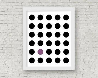 Circles Geometric Print, Modern Minimalist Print, Modern Home Decor, Minimalist Art, Spots Art, Polka Dot Poster, 8 x 10 Print