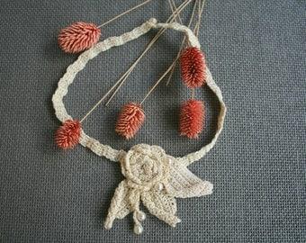 """Bijoux Crochet """"Rose des Sables"""""""