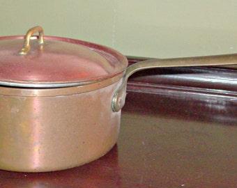 Vintage COPPER Pot and Lid