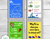 Dr. Seuss Decor, Dr. Seuss Prints, Dr. Seuss Quotes, Daycare Decor, Playroom Decor, Book Theme Nursery, Dr. Seuss Nursery Decor, Seuss