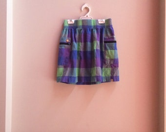 Insight Purple and Blue Tartan Skirt