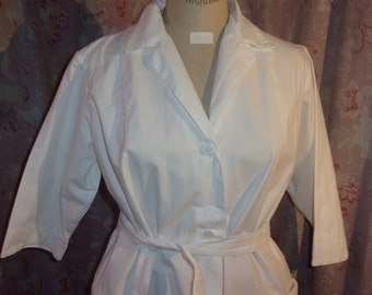 An old blouse or vintage for nurse or doctor, working clothes