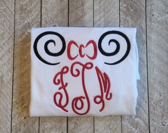 Minnie inspired monogram shirt