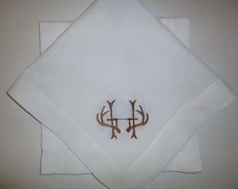 8 Made to Order Antler Dinner Napkins