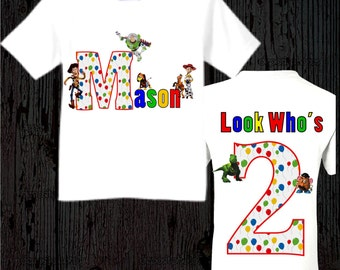 Toy Story Birthday Shirt - Front and back design