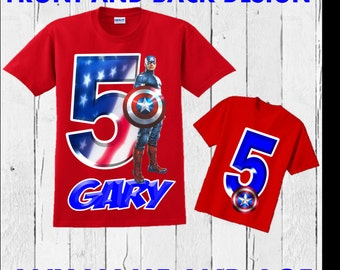 Captain America Birthday Shirt - Captain America Shirt