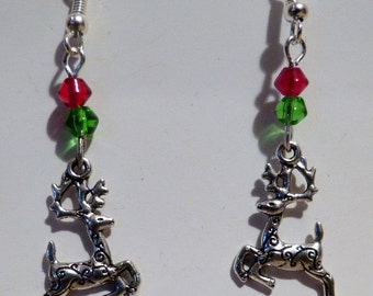 Leaping Stag Earrings
