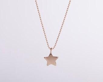 Long Necklace Fine Golden Necklace Gold Star Starlet Goldstar Star Necklace