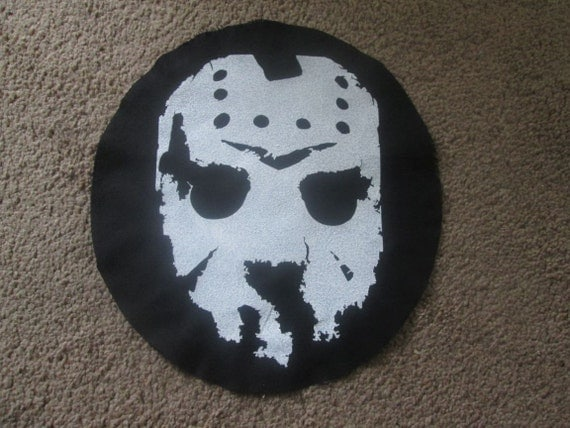 To Print For Jason Mask Pumpkin Stencil: Jason Voorhees Mask Back Patch Print Screen Print Punk