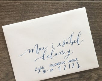 Custom Hand Calligraphy Addressed Envelopes