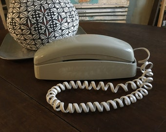 Vintage Gray Trimline Push Button Phone