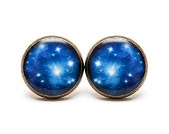 Pleiades Star Cluster Earring Studs Outer Space Jewelry Galaxy Star Space Earrings Universe Nebula Star Earrings Astronomy Jewelry