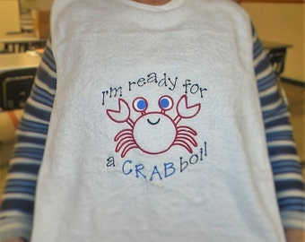Adult bib with crab