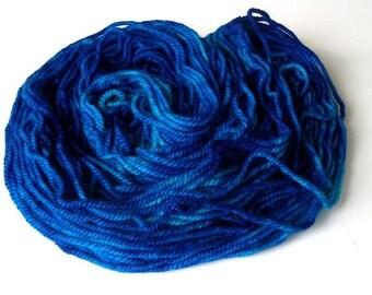 Hand dyed merino cashmere nylon superwash yarn worsted weight merino cashmere yarn 87 yds.(80 m)