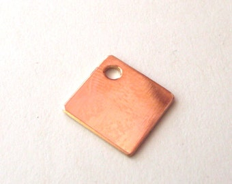 20 gauge bronze square blanks 1 inch x 1 inch , bronze stamping blanks , bronze tags QTY 5