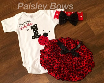 Lady bug First Birthday outfit