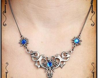 Hestia necklace - Handmade medieval necklace with swarovski