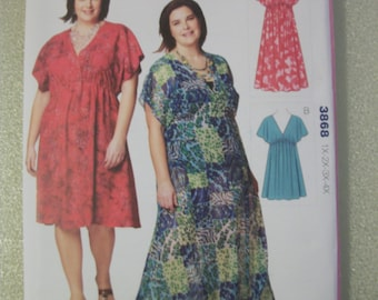 Kwik Sew 3868 Women's 1X-2X-3X-4X pullover dresses. Kwik and Easy!