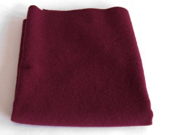 Felted Wool Fabric, Fat Quarter, Red/Burgandy Solid #2