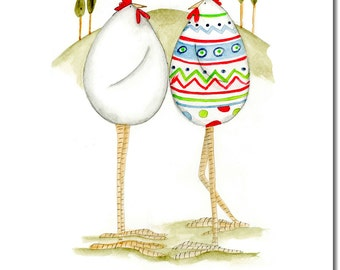 Easter egg Greeting Card