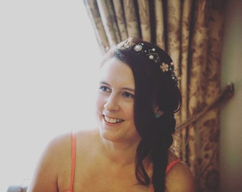 Bespoke handmade hairvine halo | boho hair | bridal headpiece | brides halo | bridal hairpin | wedding headpiece | prom hairpin