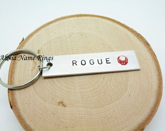ROGUE - A Division must have!! Custom Hand Stamped Aluminum Key Chain.