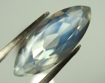 faceted BLUE MOONSTONE, marquis cut gemstone, 17.5 x 7.1 mm, 3.76 carats gorgeous gem, Burma