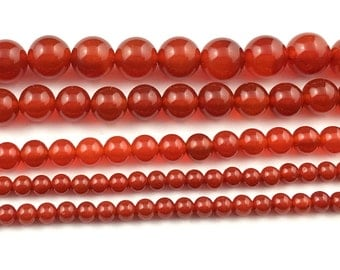 A natural red agate beads, gemstone beads, round semi precious beads, red agate stone beads 6mm 8mm 10mm 12mm strand