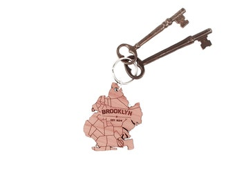 Brooklyn Map Keychain