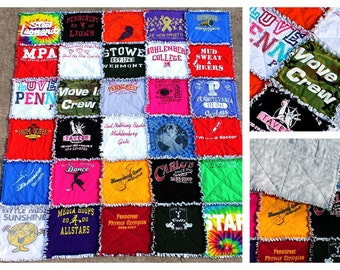 Custom T-Shirt Rag Quilt : tshirt rag quilt - Adamdwight.com