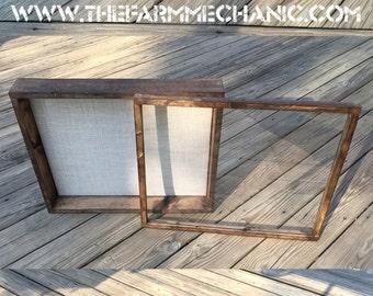 shadow box frame deep 16x20 3 inches deep rustic display large frame