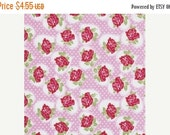 SALE VALENTINE ROSE in Pink by Tanya Whelan - Valentine Rose Collection - Free Spirit Fabric - Half yard