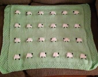 Sheep Baby Blankie