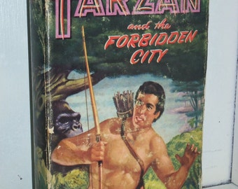 1952 Whitman Tarzan & The Forbidden City by Edgar Rice Burroughs HC Book