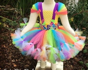Pastel Rainbow Tutu, Clown Tutu, Customized Tutu, Jelly Bean Tutu, Birthday Tutu, Tutu Dress, Rainbow Tutu