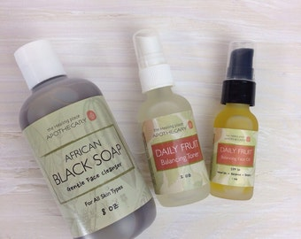BALANCING FACE Kit, Natural Skin Care, Oily Skin Care, Combination Skincare, Mothers Day Gift, Spa Gift Sets