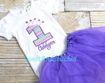 Purple Princess birthday tutu Outfit - Purple Princess birthday shirt/tee! 1st, 2nd, 3rd, 4th, 5th, etc birthday shirt or birthday outfit!