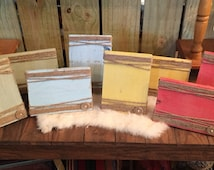 Rustic Picture Frame - Picture Frame- Painted Wood Block - pallet wood frames