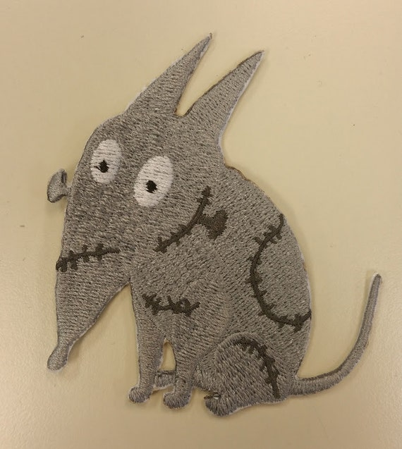 Cartoon Halloween Embroidered Dog Patch, Sparky Halloween Patch, Iron On Embroidered Sparky Patch