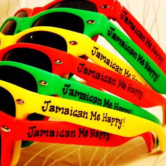 Jamaica Jamaican Wedding Vacation Sunglasses For Beach Or