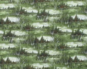 1/2 yard, Nature Fabric, Woodland, Swamp
