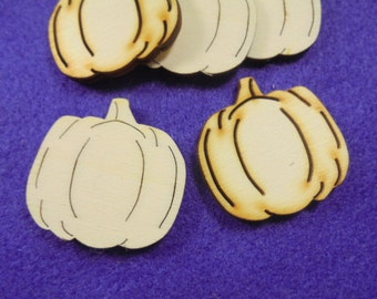 10 Pumpkin, wood, 4 cm