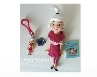 Vintage Judy Jetson THE JETSONS vinyl doll Figure w/tags + Judy Keychain Applause
