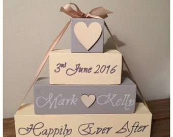 Personalised wooden blocks set, Ideal gift