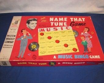 NAME THAT TUNE Game 1959 Milton Bradley Game Show