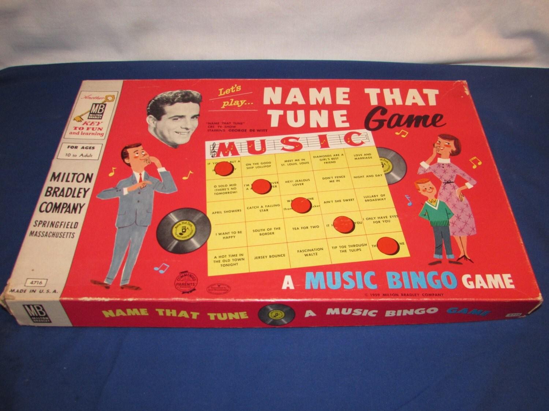 Name That Tune: NAME THAT TUNE Game 1959 Milton Bradley Game Show